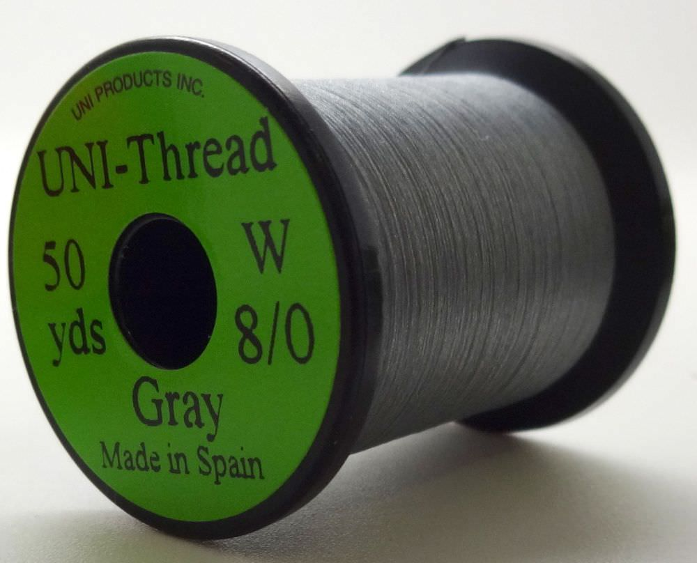 Uni - Pre Waxed Thread - 6/0 - 50 Yards - Grey