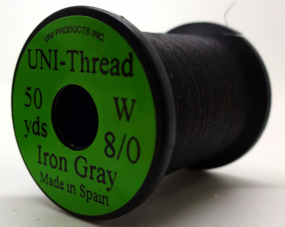 Uni - Pre Waxed Thread - 6/0 - 50 Yards - Iron Grey