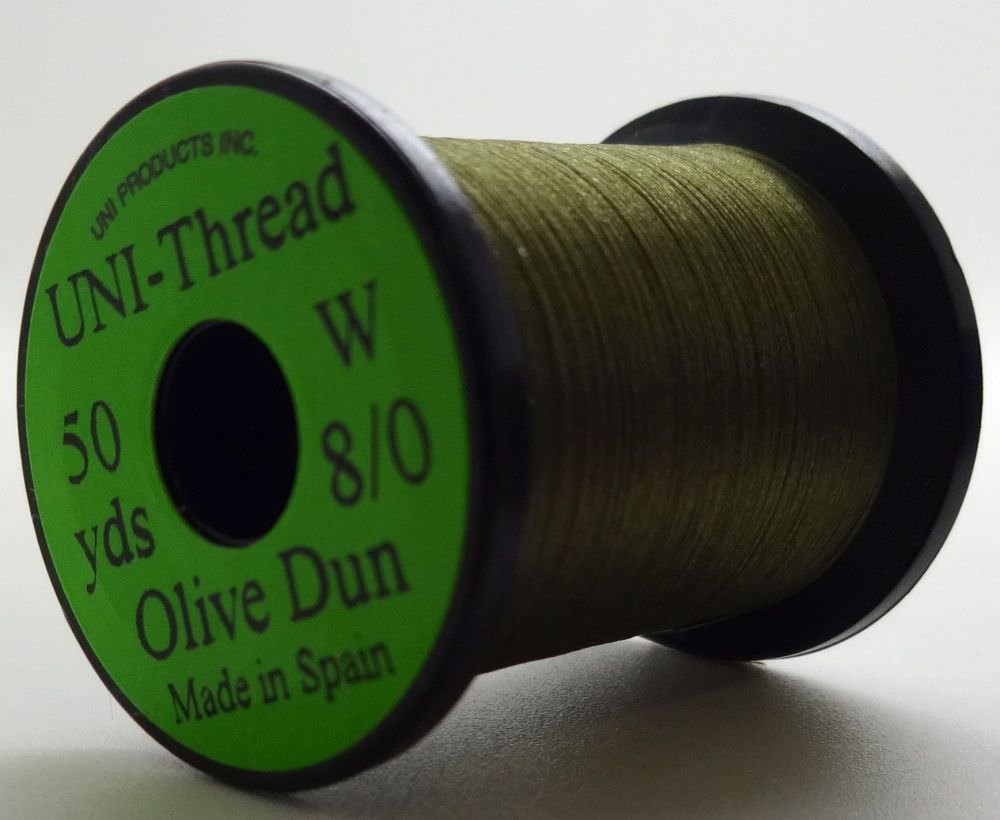 Uni - Pre Waxed Thread - 6/0 - 200 Yards - Olive Dun
