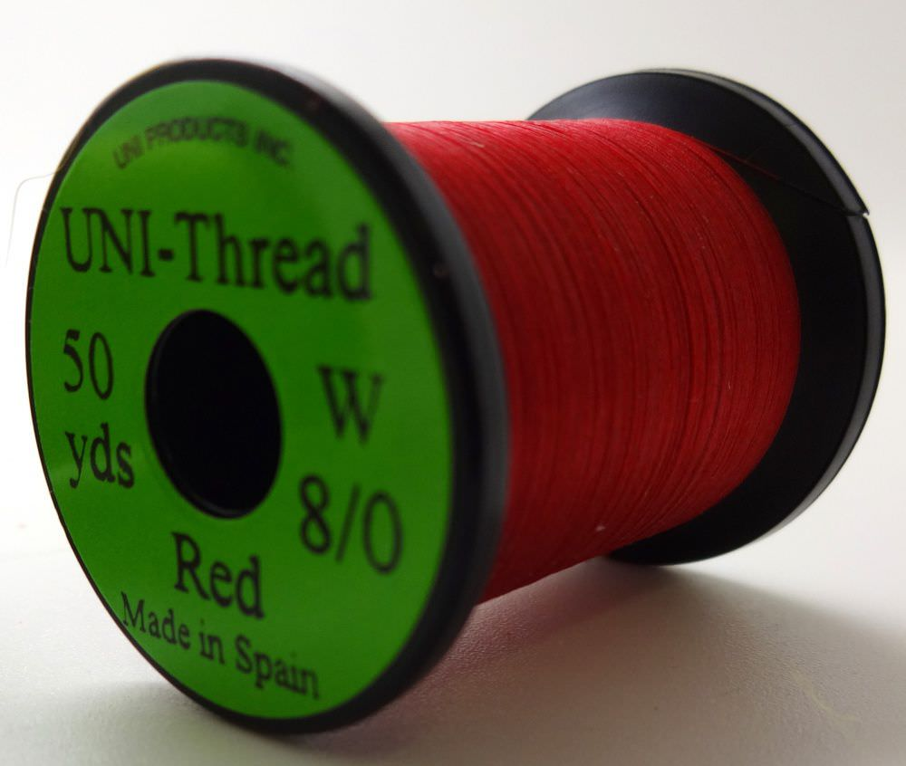 Uni - Pre Waxed Thread - 6/0 - 50 Yards - Red
