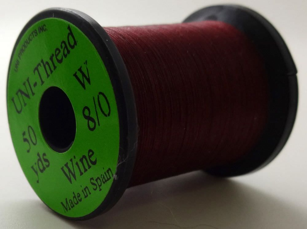 Uni - Pre Waxed Thread - 6/0 - 50 Yards - Wine
