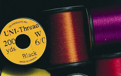 Uni - Super Midge Pre Waxed Thread - 8/0 - 200 Yards - Fl. Orange