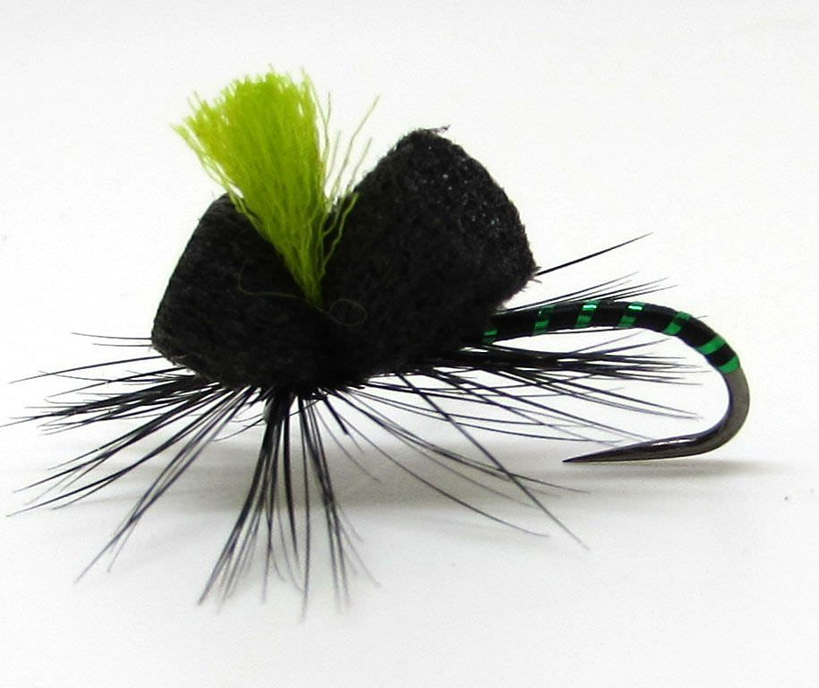 Barbless Black Magic Green Rib Beetle