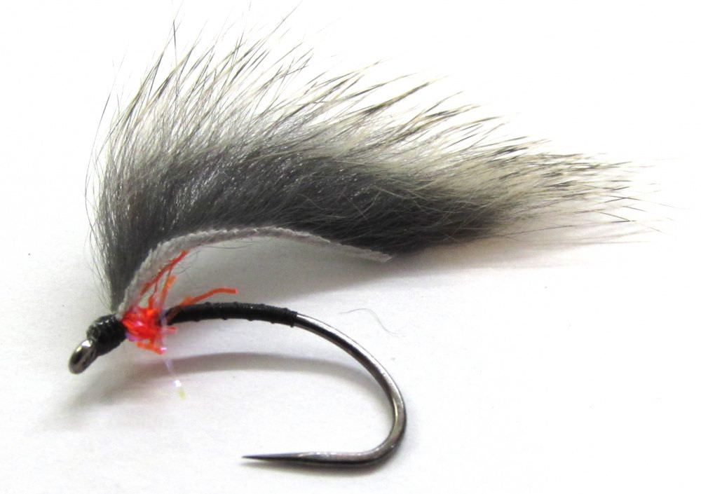 Barbless Marsden Mohican Black & Red Natural Wing