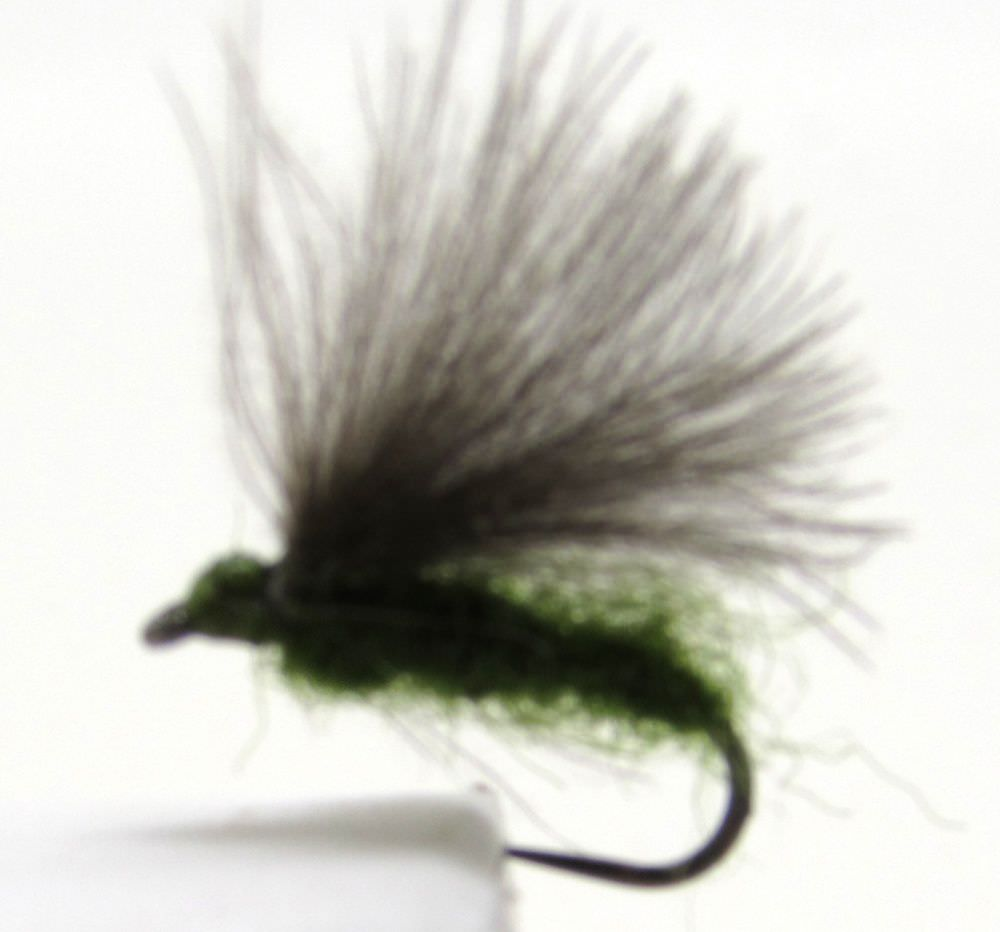 Barbless F Fly Dark Olive