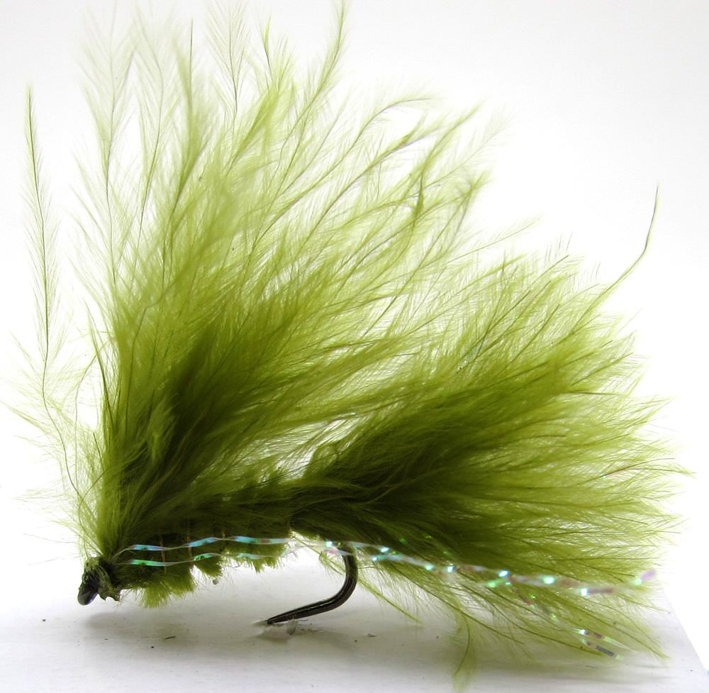 Barbless Olive Cats Whisker Mini Lure