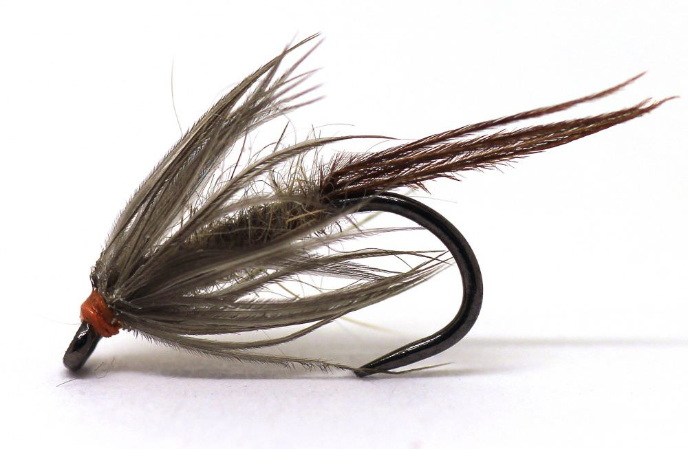 Barbless March Brown Northern Spider Trout Fly