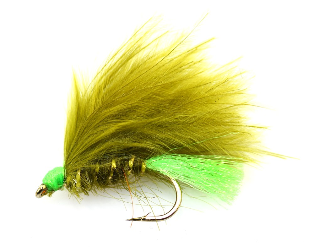 Olive Hot Tail Mini Lure