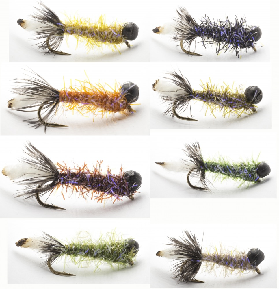 Hand van Klinken Leadhead 2.0 Peeping Caddis Trout Flies