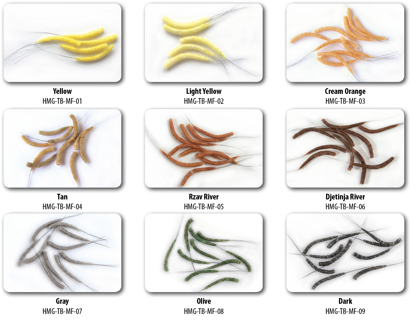 Hemmingway Tube body Mayfly Medium Size/ 10 Pieces Light yellow