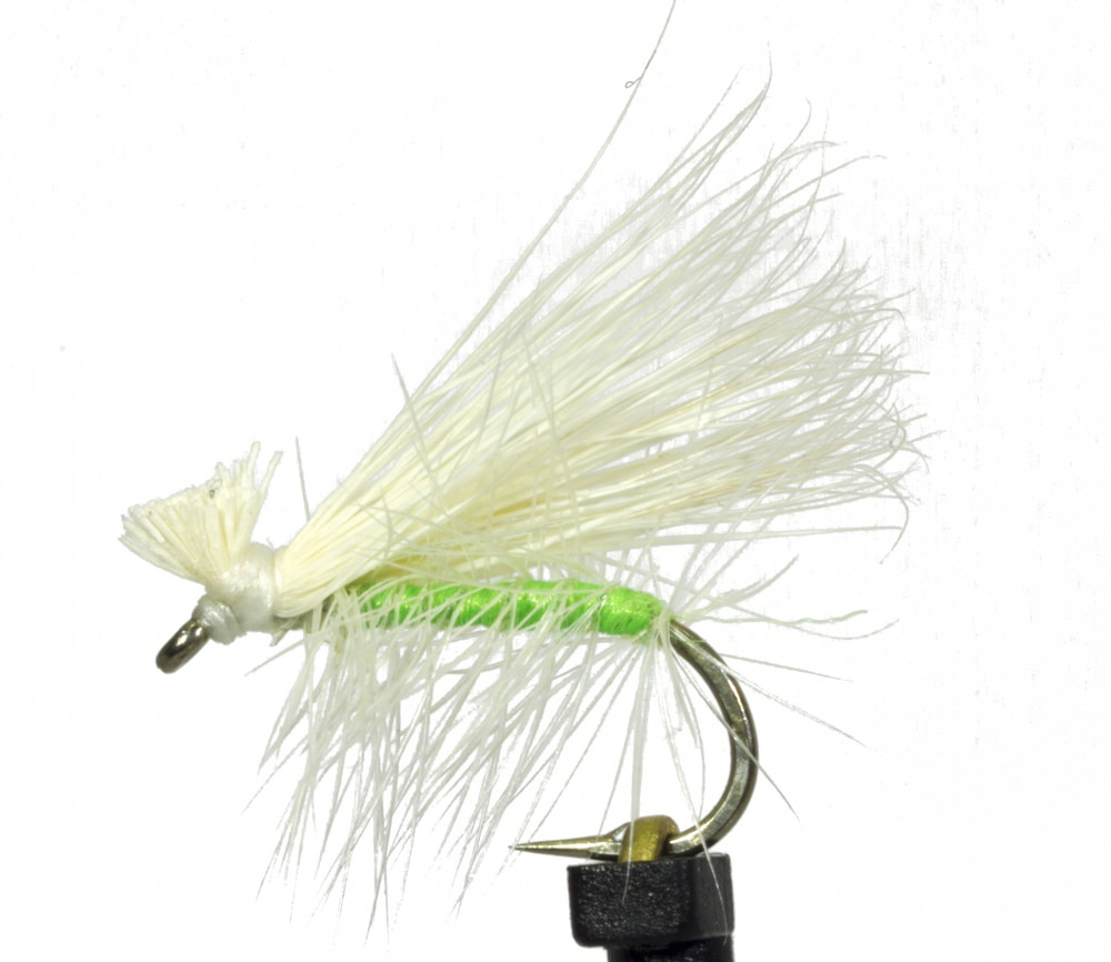 Elk Hair Green/White Caddis