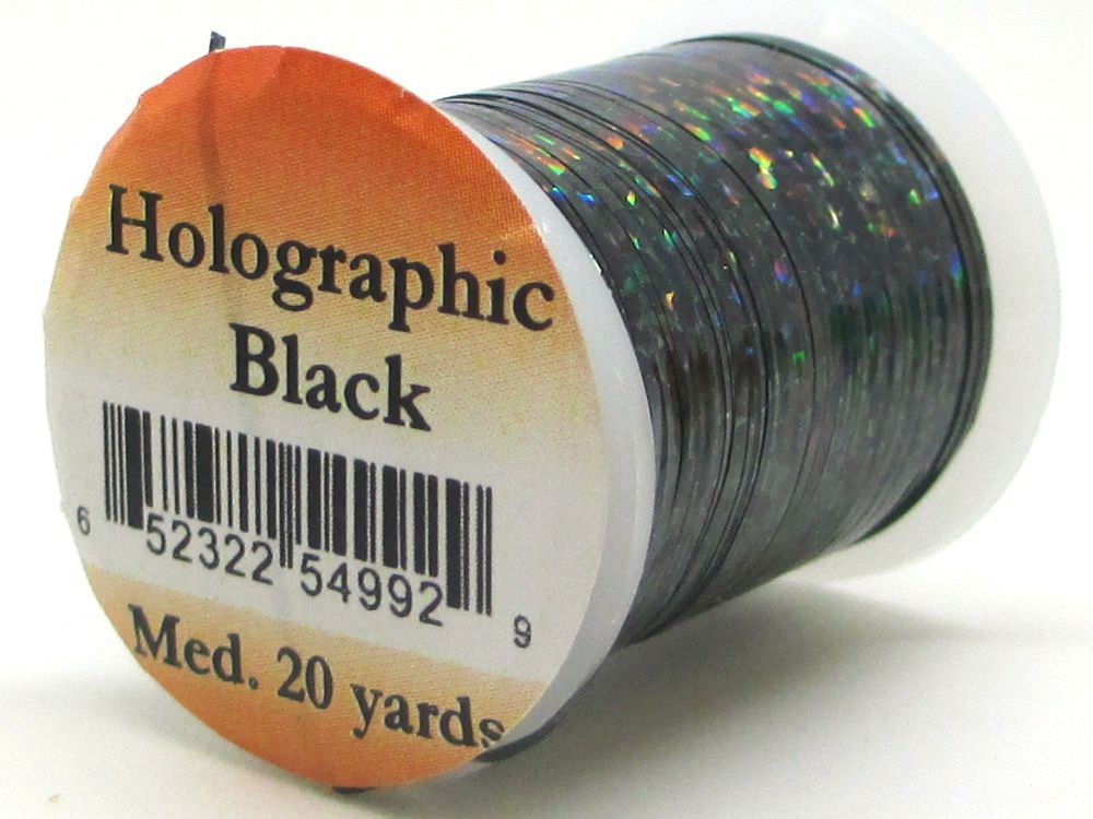 Holographic Tinsel Medium #4 Black