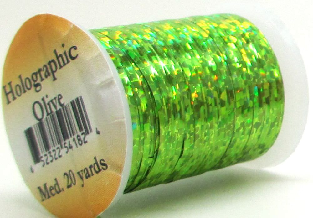 Holographic Tinsel Small #2 Olive