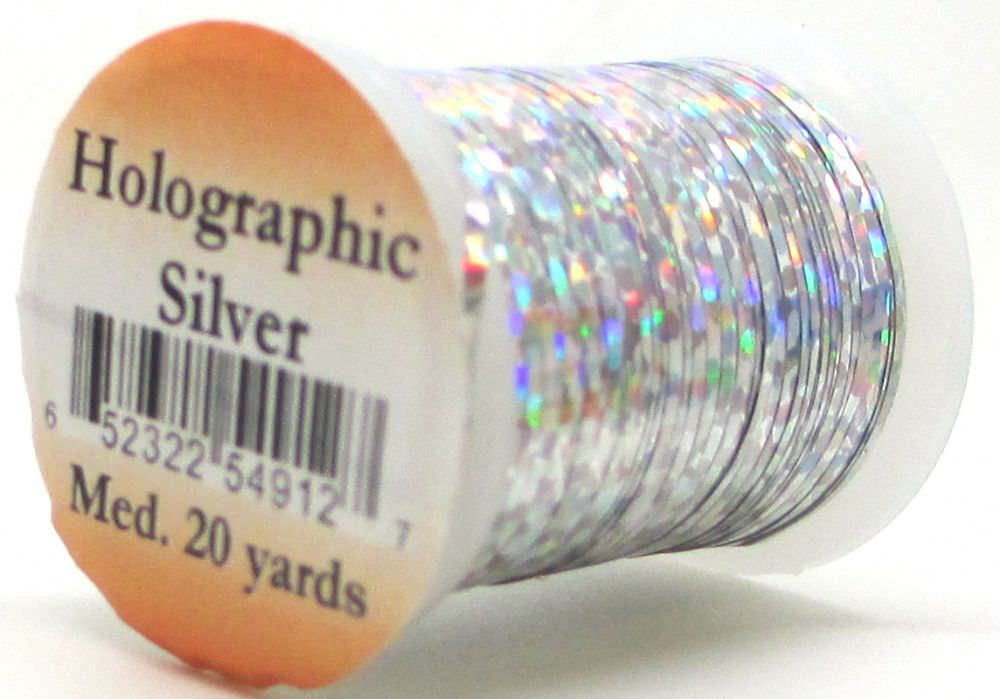 Holographic Tinsel Small #2 Silver