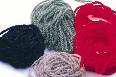 Skein Wool  Red