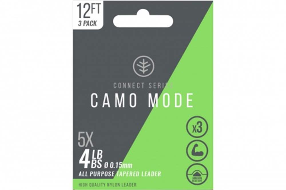 Wychwood Connect Series 4lb Camo Mode Nylon 0.15mm Tapered Leader (Triple Pack) 12 Feet