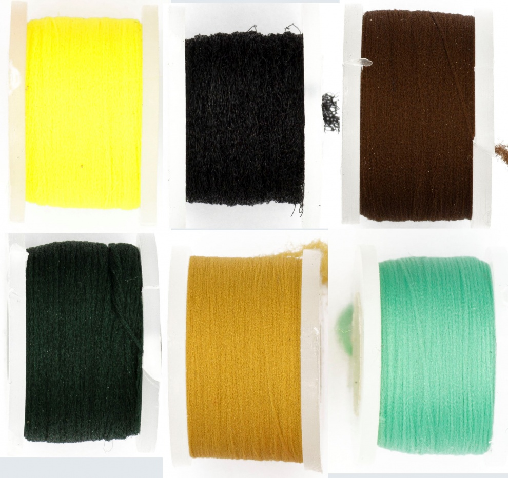 Fly Tying Basic Materials Midge Floss - Collection 6 Colours