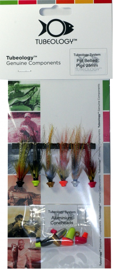 Tubeology Pot Bellied Pigs Collection 25mm Salmon Tube Flies
