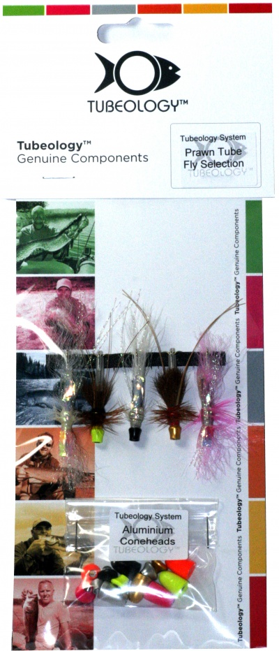 Tubeology Salmon Prawn Tube Fly Selection - Interchangeable Heads