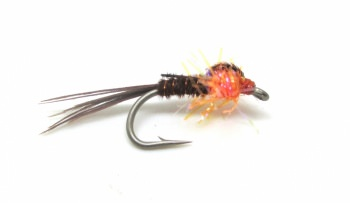 Sandys Straggle Pheasant Tail Fl Orange