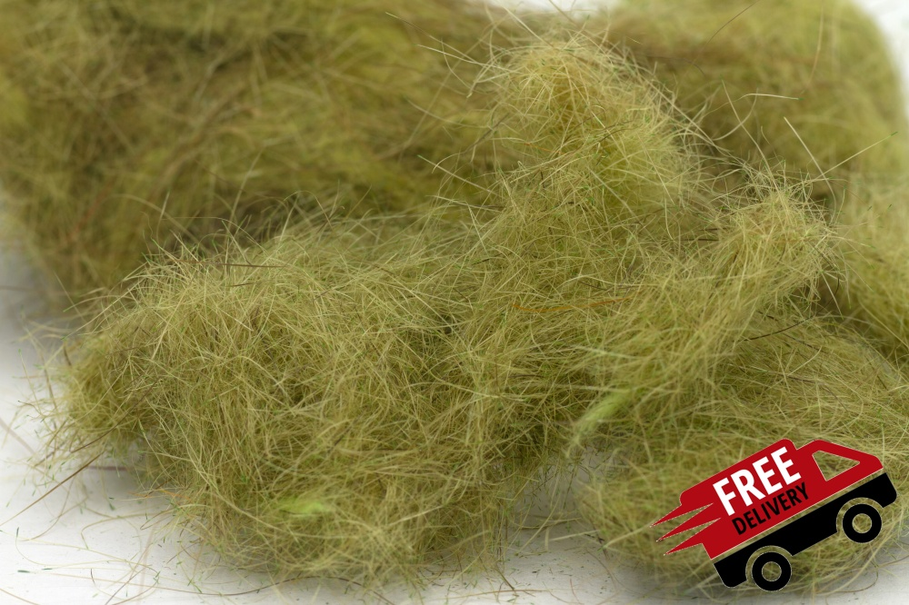 Olive 50gm Seal Fur Dubbing Bulk Trade Pack