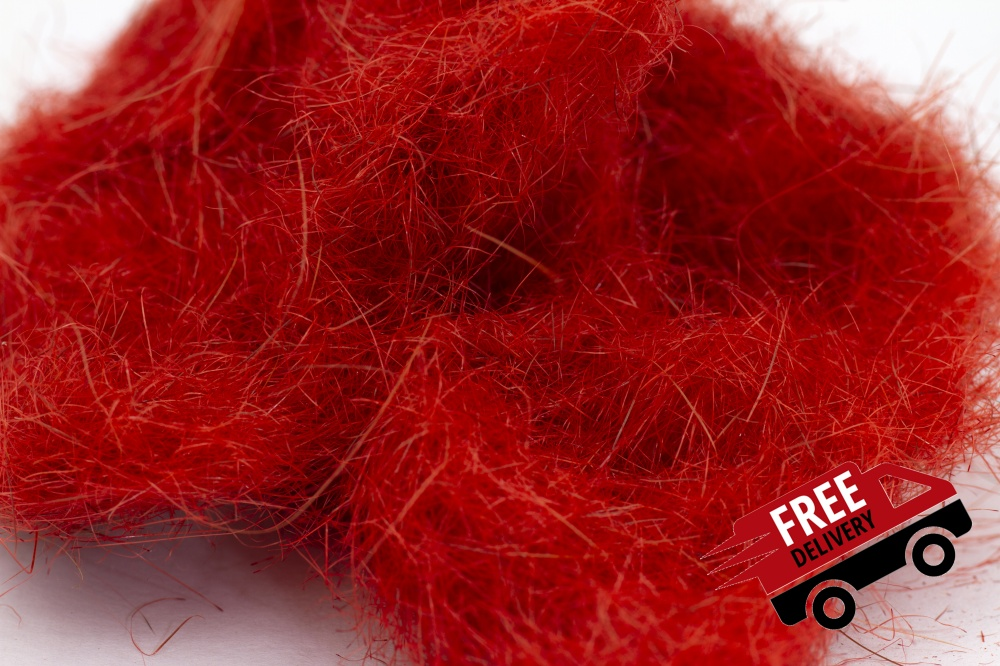 Red 10gm Seal Fur Dubbing Bulk Trade Pack