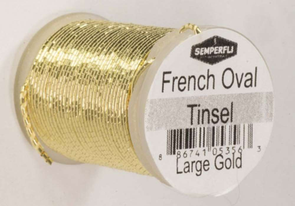 French Oval Tinsel Large Gold