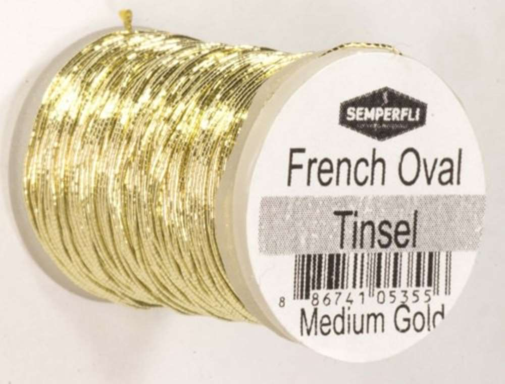 French Oval Tinsel Medium Gold