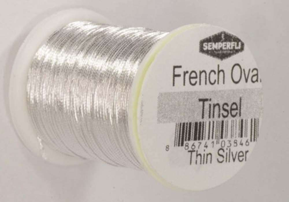 French Oval Tinsel Small Silver