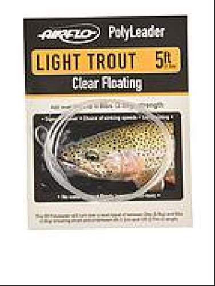 Airflo Polyleader Light Trout - 5 foot - Clear Floating