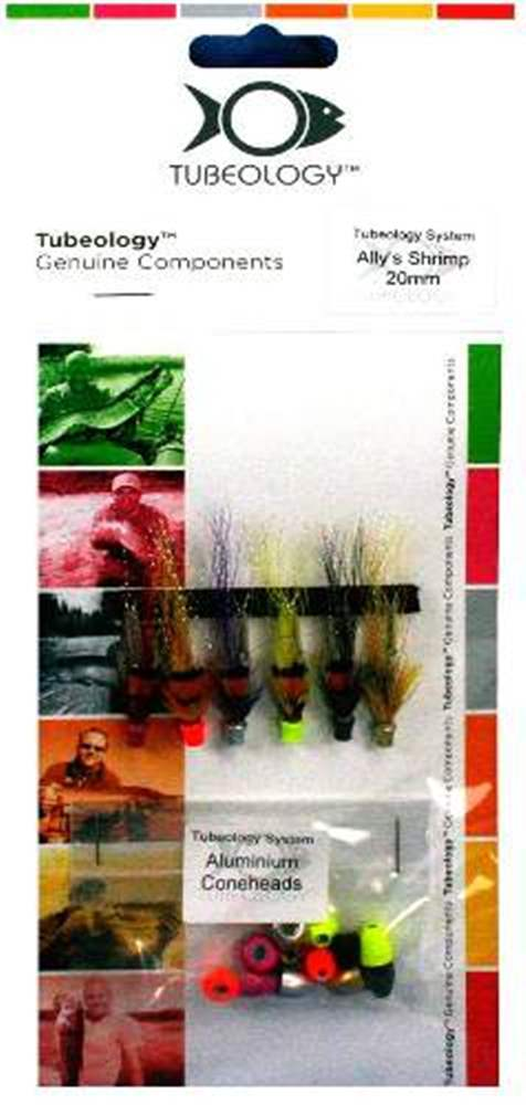 Tubeology Allys Shrimps Tube Flies 20mm Aluminium With Interchangeable Heads