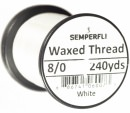 Classic Waxed Thread 8/0 240 Yards - White