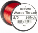 Classic Waxed Thread 8/0 240 Yards - Red