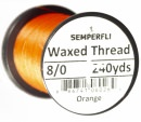 Classic Waxed Thread 8/0 240 Yards - Orange