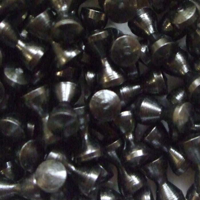 Turrall - Brass Hour Glass Eyes - Small - 2mm - Black