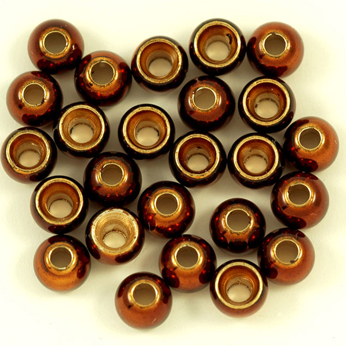Turrall - Brass Beads - Large - 3.8mm Metallic Brown