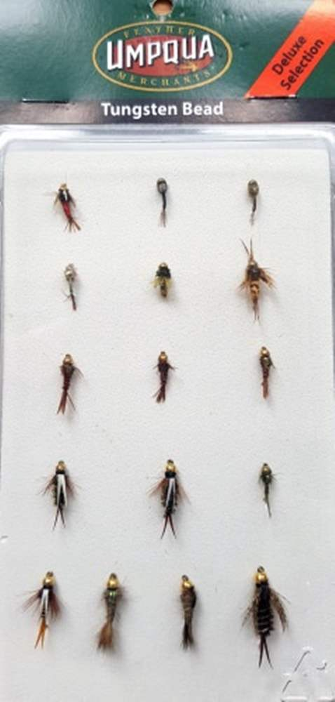 Umpqua Fly Collection (Deluxe Selection) Tungsten Bead Deadly Trout Flies